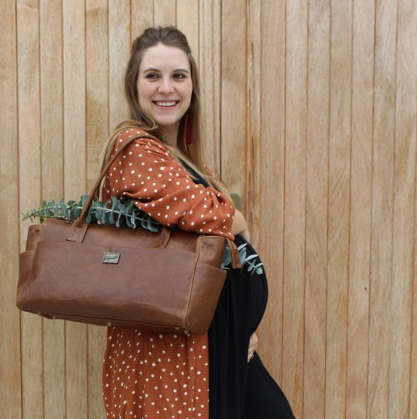 Laughing Loerie-Standard-Leather-Diaper-Bag