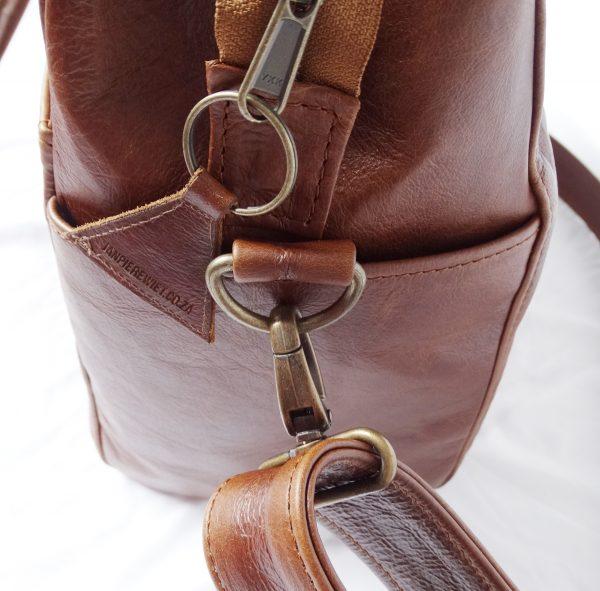Peaking Patrys   Large Leather Diaperbag by Jan Pierewiet   Bag Details