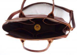 Jan Pierewiet | Peaking Patrys | Large Leather Diaper Bag Interior