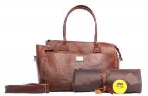 Jan Pierewiet | Laughing Loerie | Standard Leather Diaper bag