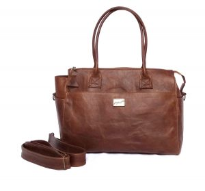 Jan Pierewiet | Peaking Patrys | Large Leather Diaper bag