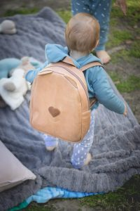 Jan Pierewiet   Tink Tinkie   Pecan Toddler Backpack