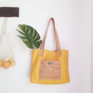 Soft leather shopper Tote