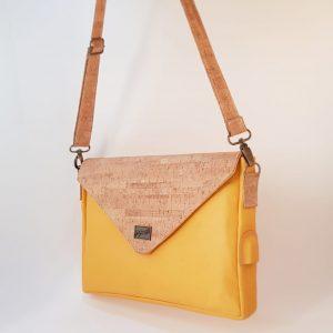 Mrs Secretary | Leather and Cork Laptop Sleeve