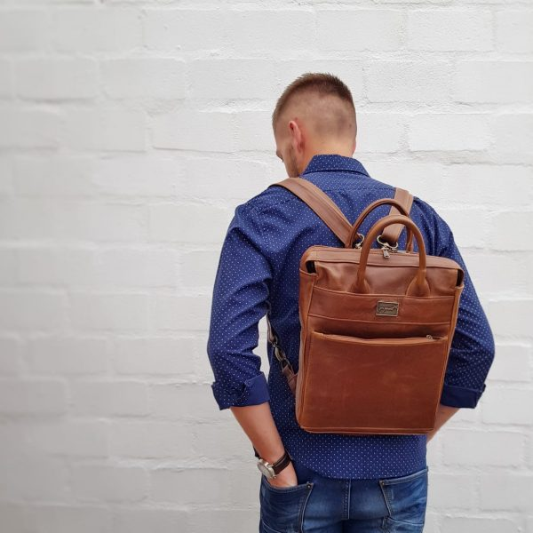 Boxed Owl Leather Backpack