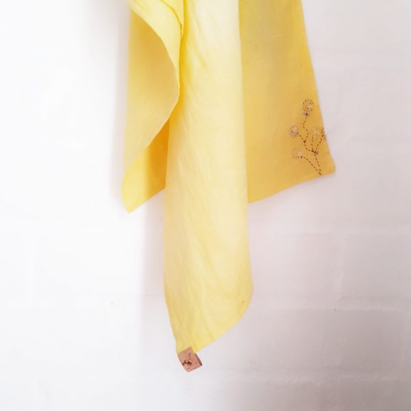 Linen Scarf | Artisan | Hand dyed and Hand Emboidery