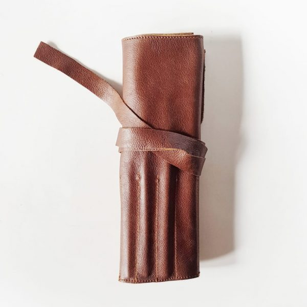 Leather Make-up Roll