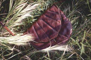 Jan Pierewiet Leather Scalloped Clutch